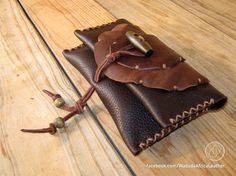 Handmade Upcycled Deerskin Genuine Leather Rolling Tobacco Pouch by WadadaAfrica on Etsy Leather Tobacco Pouch, Leather Cord, Deerskin, Distressed Leather, Wooden Beads, Pouches, Biodegradable Products, Hand Stitching, Upcycle