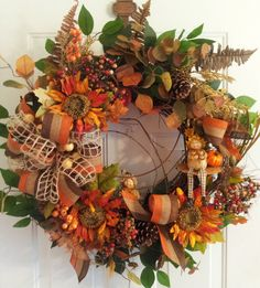 Fall Grapevine Wreath with Little Resin by TheChicyShackWreaths, $149.00