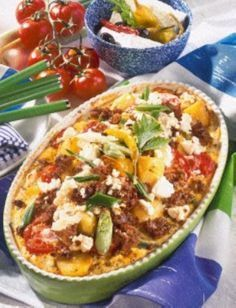 Hack-Auflauf auf griechische Art - list of healthy recipes Casserole Recipes, Soup Recipes, Dinner Recipes, Cooking Recipes, Healthy Eating Tips, Healthy Nutrition, Healthy Recipes, Good Food, Yummy Food
