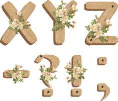 PAPIROLAS COLORIDAS: LETRAS Decoupage Printables, Alphabet And Numbers, Alphabet Letters, Printable Letters, Scrapbook Paper Crafts, Scrapbooking Ideas, Letter Art, Art Floral, Card Tags