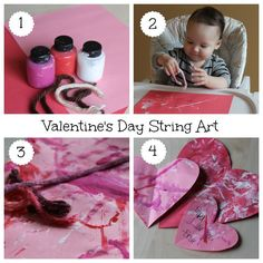 Valentines Day String Art for Toddlers