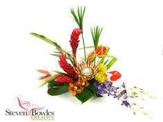 Tropical floral designs by Steven Bowles Creative, Naples, FL www.stevenbowlescreative.com