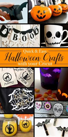 Quick and Easy Halloween Crafts to Make with Your Cricut Machine - Craft Lighting 2017 Day 1