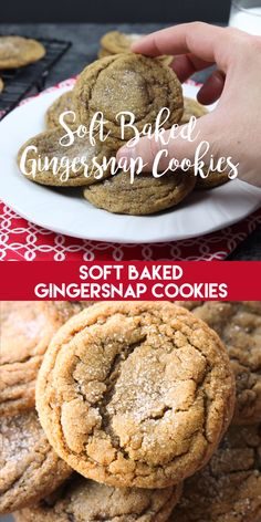 These Soft Baked Gingersnap Cookies are thick and chewy, and full of rich molass. - These Soft Baked Gingersnap Cookies are thick and chewy, and full of rich molasses, ginger, and spi - Köstliche Desserts, Holiday Desserts, Holiday Baking, Holiday Recipes, Delicious Desserts, Sweets Recipes, Autumn Recipes Baking, Yummy Cookie Recipes, Maple Dessert Recipes