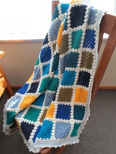 Solid (colored) Granny Square Blanket