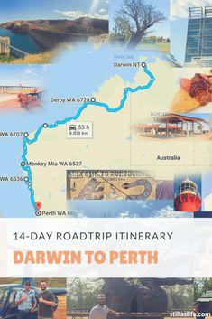 Darwin to Perth Roadtrip Itinerary Darwin Australia, Perth Australia, Western Australia, Australia Travel, Litchfield National Park, Australian Road Trip, China Travel Guide, Backpacking South America, Travel