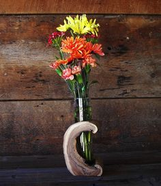 Rustic Hollow Log Vase Wood Home Décor Accent by TheRusticNature