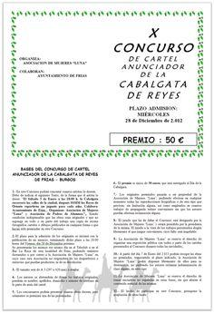 Concurso Cartel anunciador de la Cabalgata de Reyes. Frias  Bases. Hasta 28/12  #Merindades