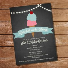 Vintage IceCream Parlour Gender Reveal Party by SunshineParties, $5.00