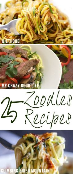 We LOVE zoodles! Zucchini noodles are such an easy way to add some veggies to yo… We LOVE zoodles! Zucchini noodles are such an easy way to add some veggies to your diet! Here are more than 25 of my very favorite zoodles recipes! Bariatric Recipes, Low Carb Recipes, Vegetarian Recipes, Cooking Recipes, Healthy Recipes, Atkins Recipes, Ketogenic Recipes, Diabetic Recipes, Ketogenic Diet