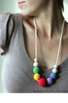 Petite Rainbow Nursing Necklace / Babywearing / Breastfeeding Necklace