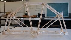 A Balsa wood bridge. Spaghetti Bridge, Wood Bridge, Science Fair, Craft Stick Crafts, Bridges, Sticks, Architecture, Model, Furniture