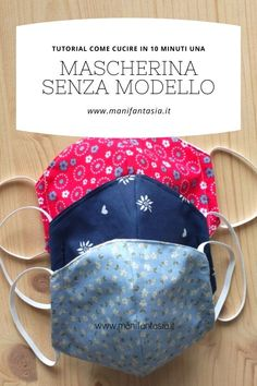 Come cucire una mascherina senza modello in 10 minuti - manifantasia Sewing Lessons, Sewing Hacks, Sewing Crafts, Sewing Projects, Diy Mask, Diy Face Mask, Dress Sewing Patterns, Crochet Patterns, Punto Smok