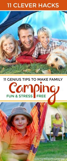 Super Genius Camping Tips to Make Camping with Kids Experience Fun, Easy and Stress-Free! Tips to Organizing your Trip, Setting up a Kid-Friendly Campsite and Ways to be Prepared. Campsite Safety & Food Hacks. Have a Family Camping Experience That's Fun & Stress-Free