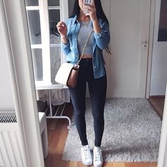 fashion, outfit, and girl kép