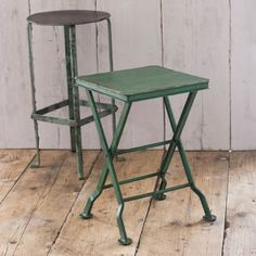 Industrial Style Square Folding Stool | The Other Duckling £49.95
