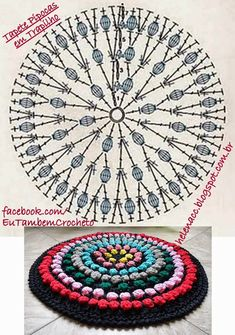 Bildergebnis für mandalas al crochet patrones Motif Mandala Crochet, Crochet Circles, Crochet Flower Patterns, Crochet Doilies, Crochet Stitches, Knitting Patterns, Needlepoint Stitches, Crochet Diy, Crochet Round