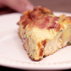 This fluffy, cheesy bacon bread is a gift from the pizza gods.