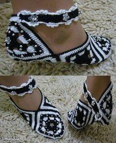 Jolis chaussons schémas
