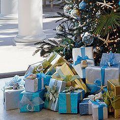 Gorgeous wrapping, coastal style
