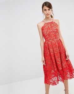 ASOS Premium Lace Full Midi Dress Recently purchased for a wedding. Love!