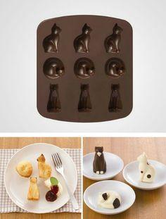 Силиконовые формы для выпечки, которые позволят приготовить потрясающие кексы в виде кошечек.
