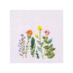 Botanical Embroidery  #flower #embroidery #botanical #needle
