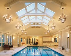 omg indoor pool! i think this is amazing, with the wet bar behind it