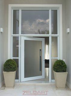 casas com portas de vidro temperado - Pesquisa Google