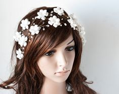 54_Flower crown Circlet Flower crown wedding Crown by ArsiArt
