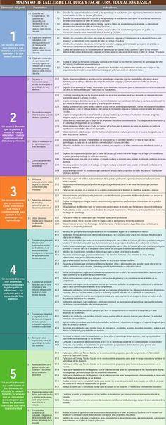 Perfil, parametros e indicadores Maestro de taller de Lectura y Escritura Educación Básica (Preescolar, Primaria y Secundaria