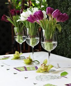 Wine Glasses As Vases