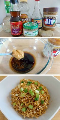 Sesame Peanut Butter Noodles - ready in about 10 minutes!