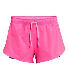 • Pink running shorts   H&M $19.99 •