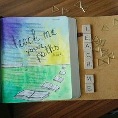 Teach me your paths  Psalm 25:4  Biblejournaling