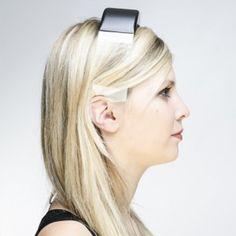 Headphones by Renaud Defrancesco transmit  music through clear plastic band