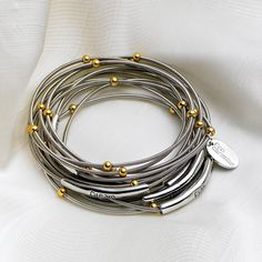 PIANO WIRE BRACELETS - WITHOUT WORDS