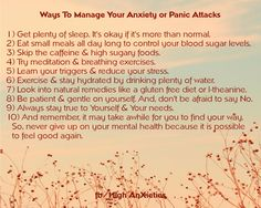 Ways to Manage Your Anxiety or Panic Attacks