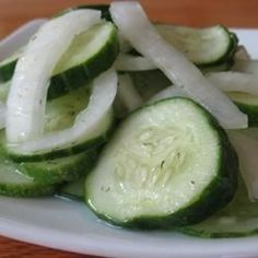 "Adrienne's Cucumber Salad I ""One word- DELICIOUS! What a wonderful side salad for a grilled steak dinner."""