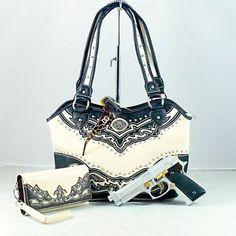 women's handbags concealed gun | ... +Wes tern Montana West concealed Weapon Carry handgun handbag+wallet