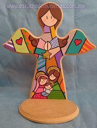 Risultati immagini per manualidades en madera para navidad