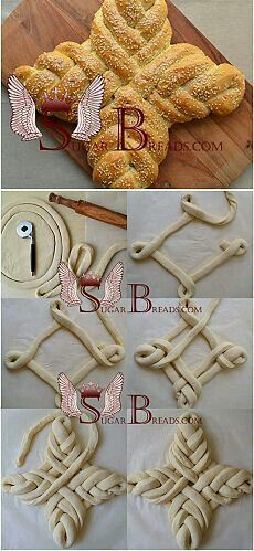 Easter bread (video) Sugar & Breads in Russia Quick Bread, How To Make Bread, Bread Recipes, Cooking Recipes, Pan Relleno, Sugar Bread, Bread Shaping, Bread Art, Braided Bread