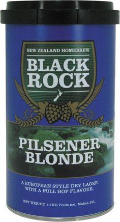 Black Rock Export Pilsner  O bere traditionala ceheasca in stilul Pilsener. Invioratoare, limpede si racoritoare. Consistenta, puternica si plina de gust - un adevarat succes printre kiturile de bere de casa.  O cutie de 1.7 kg va produce 23 de litri de bere de buna calitate. Necesita 1 kg de zahar si apa proapspata. Drojdia este inclusa in kit.
