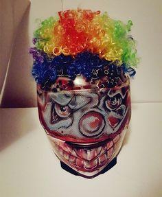 Creepy Clown Purge Superbike Helmet Airbrush Med. Adult signed by GT Artland #Motorcycle