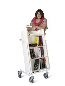 Chariot à livres, Ørestad plus, blanc
