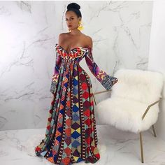 ankara stil Bold and colourful evening Ankara African Attire, African Wear, African Women, African Dress, African Fashion Ankara, African Inspired Fashion, African Print Fashion, African Prints, Latest Ankara Gown