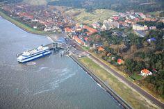 Vlieland haven vanuit de lucht