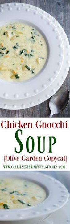 Enjoy one or your fa Enjoy one or your favorite restaurant...  Enjoy one or your fa Enjoy one or your favorite restaurant copycat soups at home with my version of Olive Gardens Chicken Gnocchi Soup. Recipe : http://ift.tt/1hGiZgA And @ItsNutella  http://ift.tt/2v8iUYW