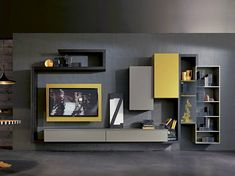 Lacquered TV wall system SIDE 5 - Fimar