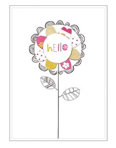 Hello Card by #CinnamonAitch. BRAND NEW range. Available at Card Crush Greetings now. £2.30.